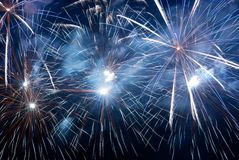 Fireworks, salute. Royalty Free Stock Photography