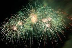Fireworks, salute. Royalty Free Stock Photo