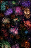 Fireworks salute background wallpaper Royalty Free Stock Images