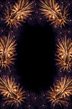 Fireworks salute frame Royalty Free Stock Image