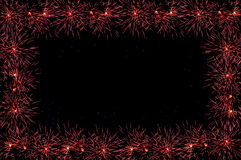 Fireworks salute frame Stock Photo