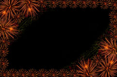 Fireworks salute frame Royalty Free Stock Photography