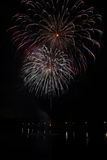 Fireworks. Salute on a holiday in the city of Mytishchi Royalty Free Stock Photography