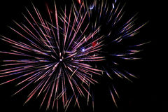 Fireworks salute holiday Royalty Free Stock Photography
