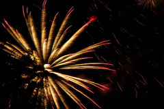 Fireworks, salute in the night sky royalty free stock images
