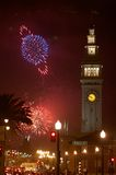 Fireworks in San Francisco Stock Photography