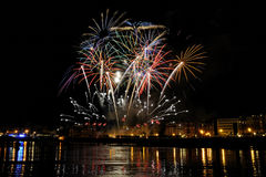 Fireworks in San Sebastian - august 2011 Royalty Free Stock Photo