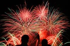 Fireworks San Sebastian contest Stock Image