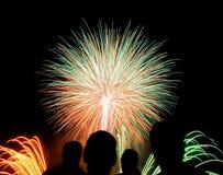 Fireworks San Sebastian contest Royalty Free Stock Image