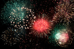 Fireworks scenery Stock Photography