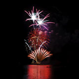 Fireworks in the sea Royalty Free Stock Images