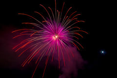 Fireworks on sea Stock Photos