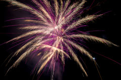 Fireworks on sea Royalty Free Stock Photos