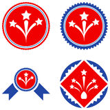 Fireworks Seal Stamp Flat Icons Royalty Free Stock Images