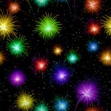 Fireworks, seamless Stock Photography