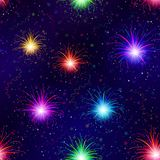 Fireworks, seamless Royalty Free Stock Image