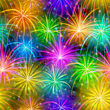 Fireworks, Seamless Royalty Free Stock Images