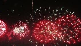 Fireworks seamless loop stock video