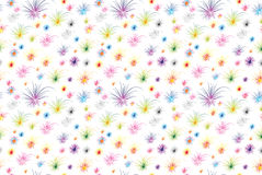 Fireworks seamless pattern. Seamless tile pattern with fireworks in various colors Royalty Free Stock Photography