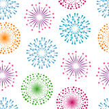 Fireworks seamless pattern background Royalty Free Stock Image