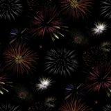 Fireworks Seamless Pattern Background Stock Image