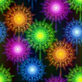 Fireworks Seamless Pattern. Firework Seamless Background of Various Colors. Tile Pattern for Holiday Design. Eps10, Contains Transparencies. Vector Stock Photography