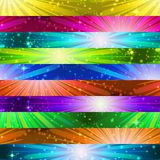 Fireworks Seamless Pattern. Seamless Holiday Background with Fireworks of Various Colors and Shapes. Tile Pattern for Web Design, Split Into Separate Parts royalty free illustration