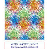 Fireworks seamless pattern. Stylized fireworks seamless pattern with flower like elements Royalty Free Stock Photos