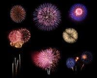 Fireworks selection on black background Stock Photography