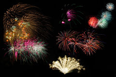 Fireworks Set Stock Photography