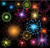 Fireworks set Royalty Free Stock Photography