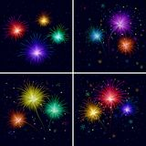 Fireworks, set Royalty Free Stock Photo