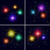 Fireworks, set Royalty Free Stock Photo