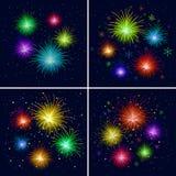 Fireworks, set Stock Photo