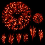Fireworks set Royalty Free Stock Images