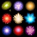 Fireworks set Stock Photos