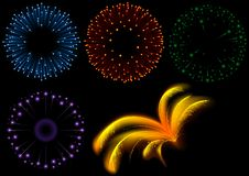 Fireworks Set. Colored abstract illustration, vector Stock Photos