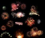 Fireworks set Royalty Free Stock Photo