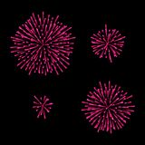 Fireworks Set. Isolated On Black. Vector. Fireworks Set. Isolated On Black Background. Vector Stock Photo