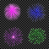Fireworks set isolated. Stock Image