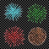 Fireworks set isolated. Stock Photography