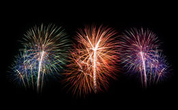 Fireworks set. New Year celebration fireworks. Royalty Free Stock Photos