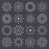 Fireworks set Royalty Free Stock Photo