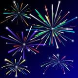 Fireworks set Royalty Free Stock Photography