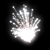 white fireworks Stock Photo