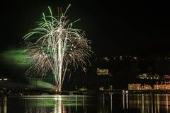 Fireworks Shaldon 2015 stock photos