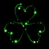 Fireworks shamrock. Shamrock made of glowing fireworks and sparks Royalty Free Stock Photos
