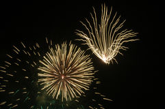 Fireworks Shapes. Showcasing Fireworks Shapes of different types Royalty Free Stock Image