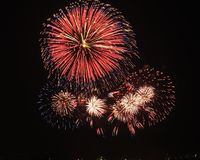 Fireworks show royalty free stock photo