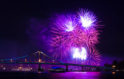 Fireworks show. In the capital of Ukraine, Kiev Stock Photography